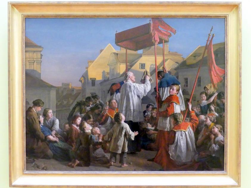 Ferdinand Georg Waldmüller: Abendsegen / Der Versehgang, 1859