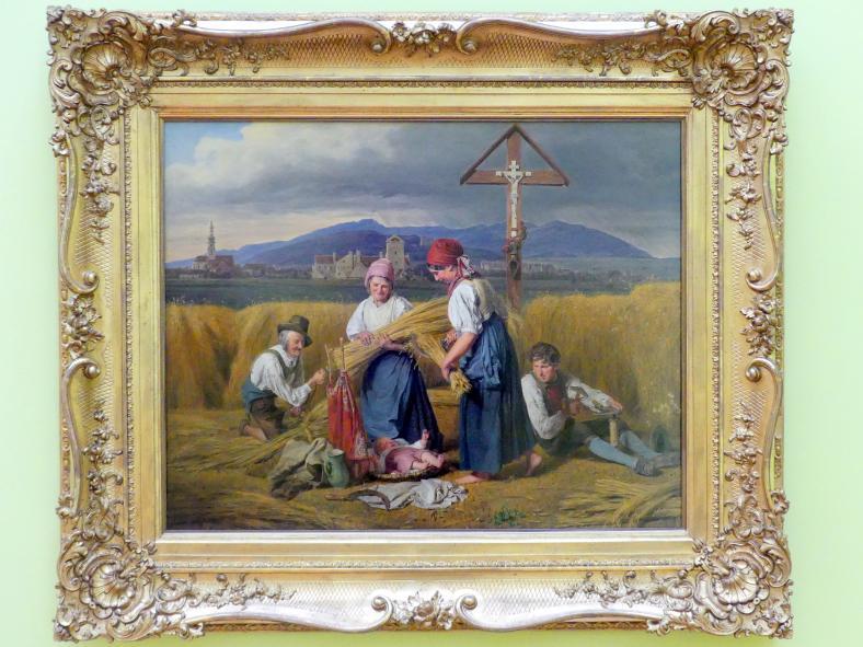 Ferdinand Georg Waldmüller: Ernteszene bei Brunn am Gebirge, 1846