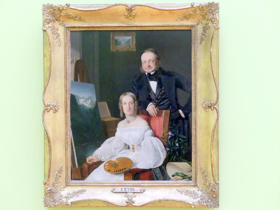 Franz Eybl: Bildnis des Freiherrn von Jaccomini und dessen Tochter im Atelier, 1834
