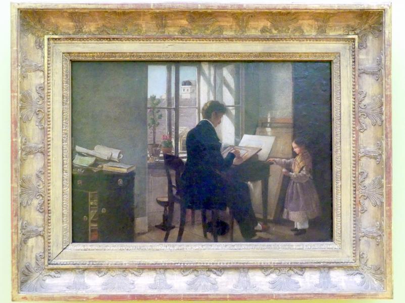 Rudolf von Alt: Am Fenster, Um 1839 - 1840