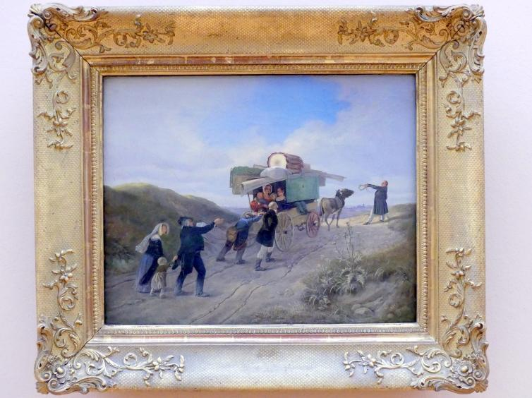 Carl Spitzweg: Reisenden Komödianten, 1838
