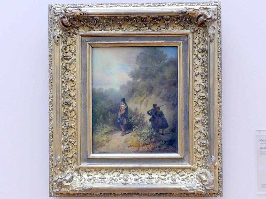 Carl Spitzweg: Künstler auf Reisen, Um 1845
