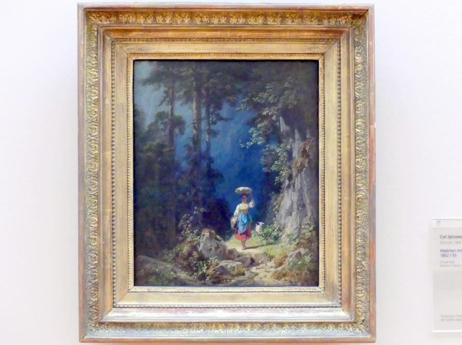 Carl Spitzweg: Mädchen mit Ziege im Gebirgstal I., Um 1852 - 1855
