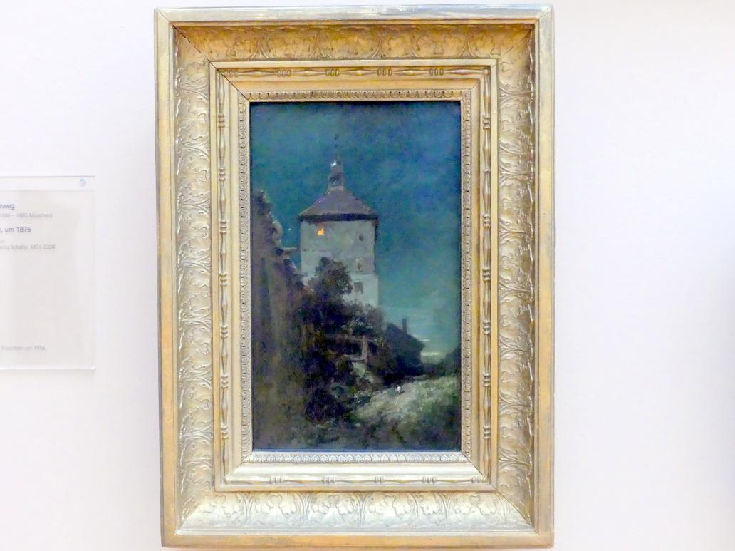 Carl Spitzweg: Der Blasturm in Schwandorf, Um 1870