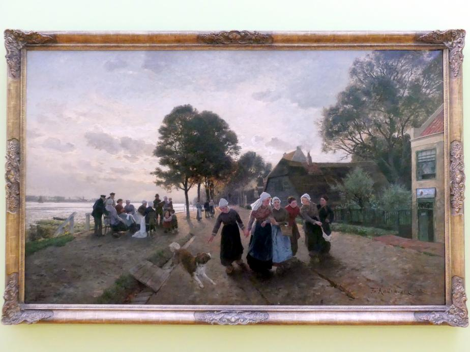 Friedrich Kallmorgen: Feierabend, 1885