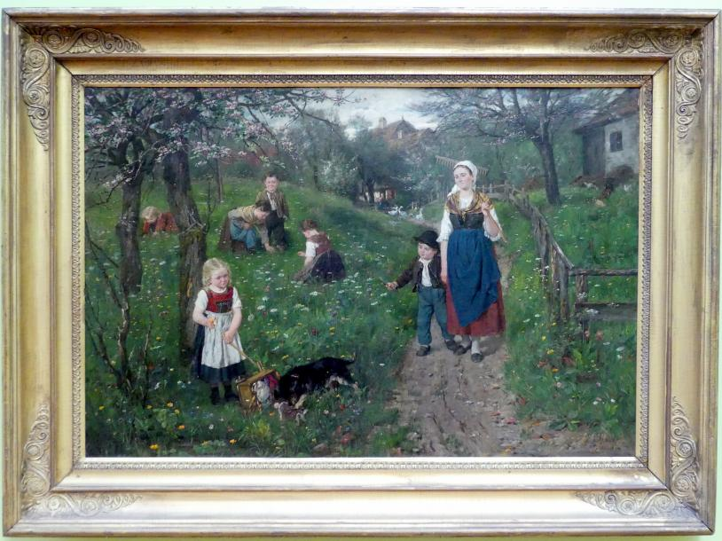 Johann Sperl: Frühlingszeit, um 1882