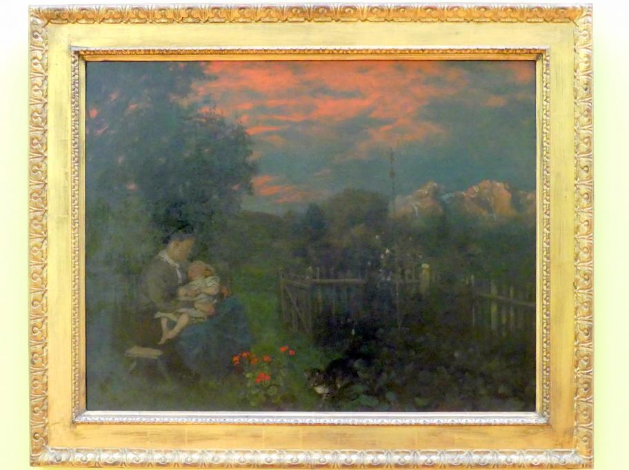 Hans Thoma: Schwarzwaldgarten, 1873