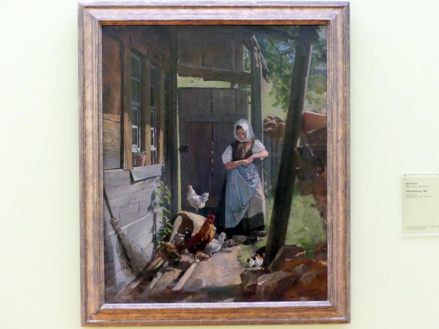 Hans Thoma: Hühnerfütterung, 1862