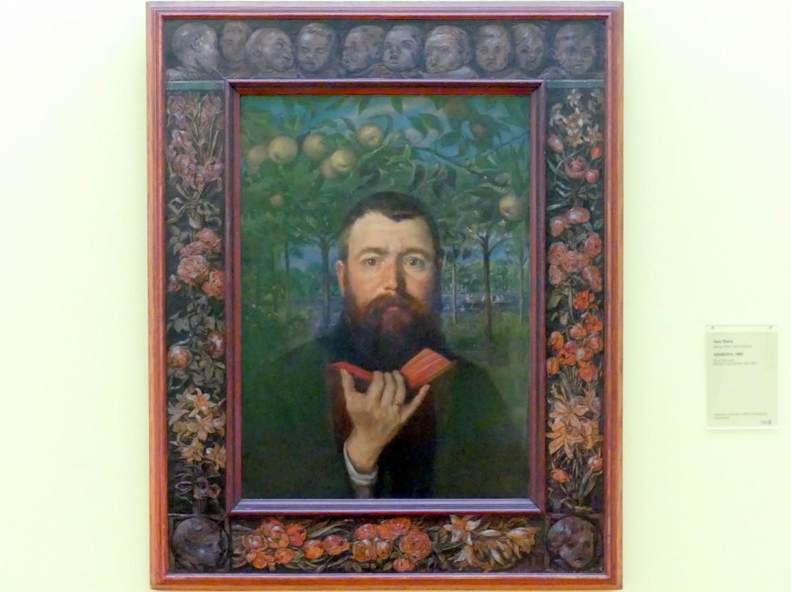 Hans Thoma: Selbstbildnis, 1880