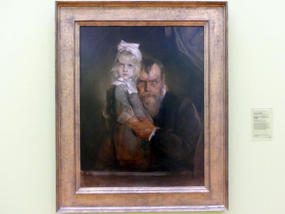 Franz von Lenbach: Selbstbildnis mit Tochter Marion, Um 1895