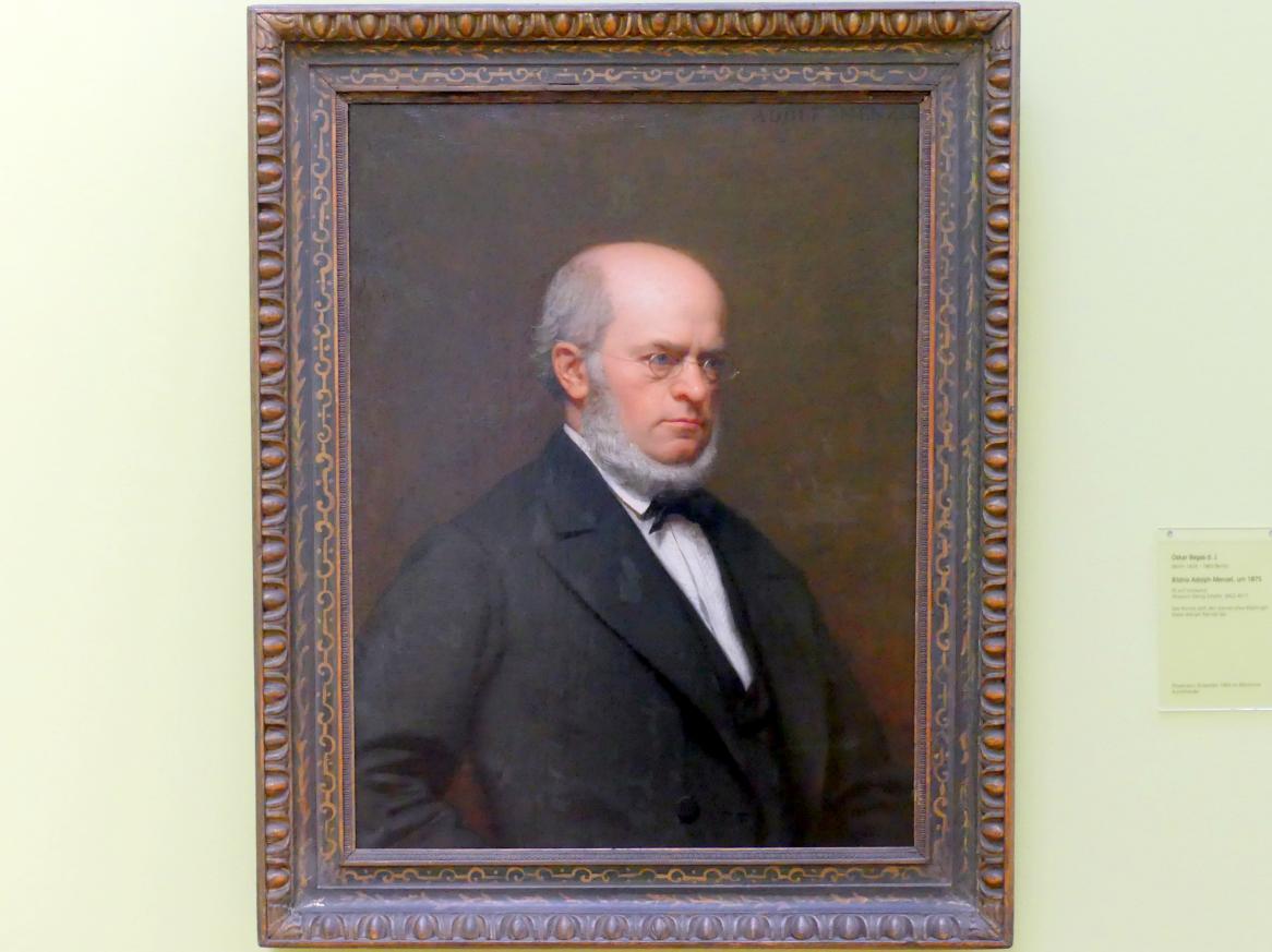 Oscar Begas: Bildnis Adolph Menzel, um 1875