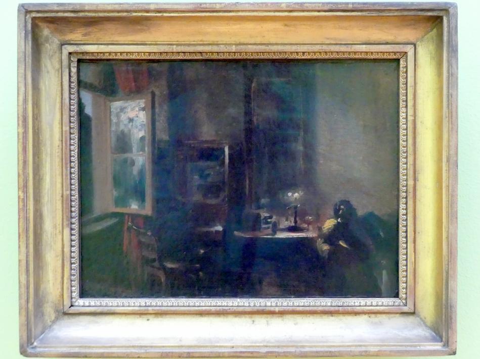 Adolph von Menzel: Wohnzimmer mit Justizminister von Maercker, um 1847 - 1848