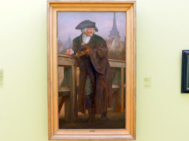 Adolph von Menzel: Chodowiecki auf der Jannowitzbrücke in Berlin, 1859