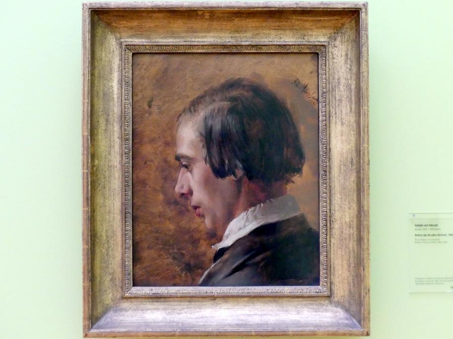 Adolph von Menzel: Bildnis des Bruders Richard, 1846