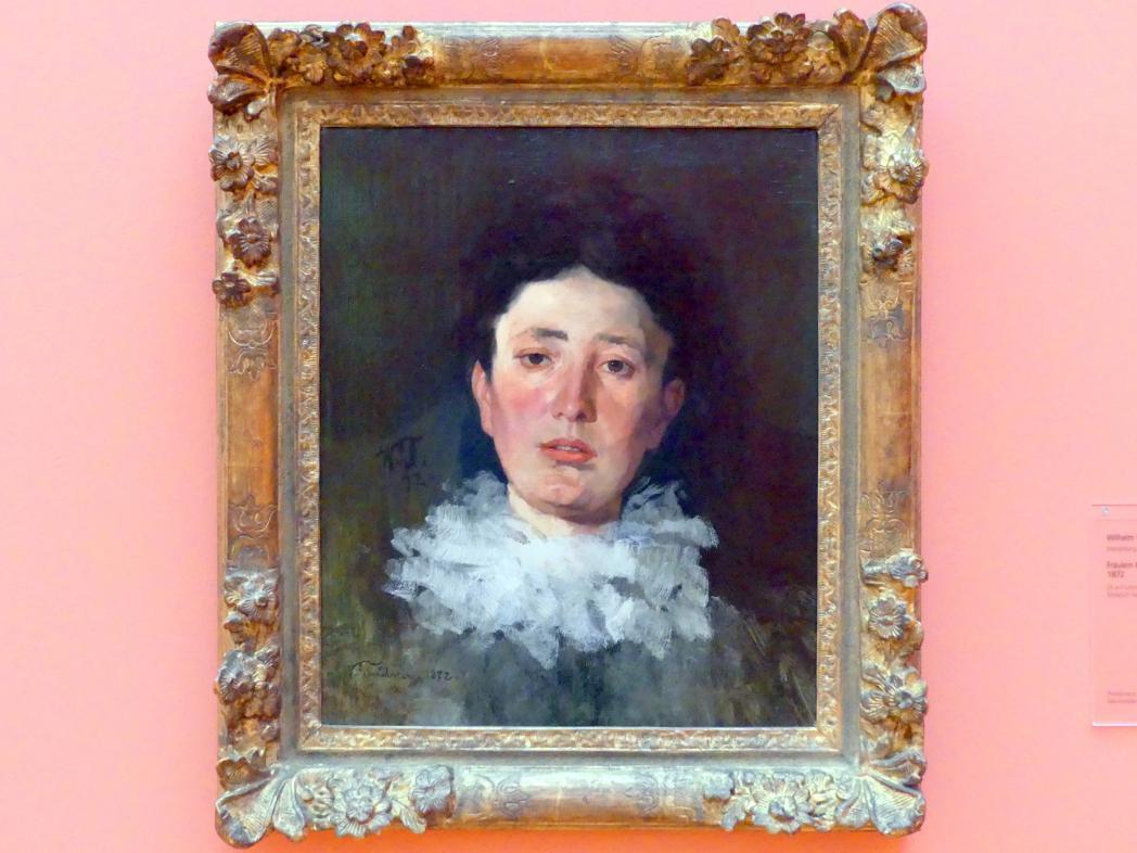 Wilhelm Trübner: Fräulein K. mit Rüschenkragen, 1872