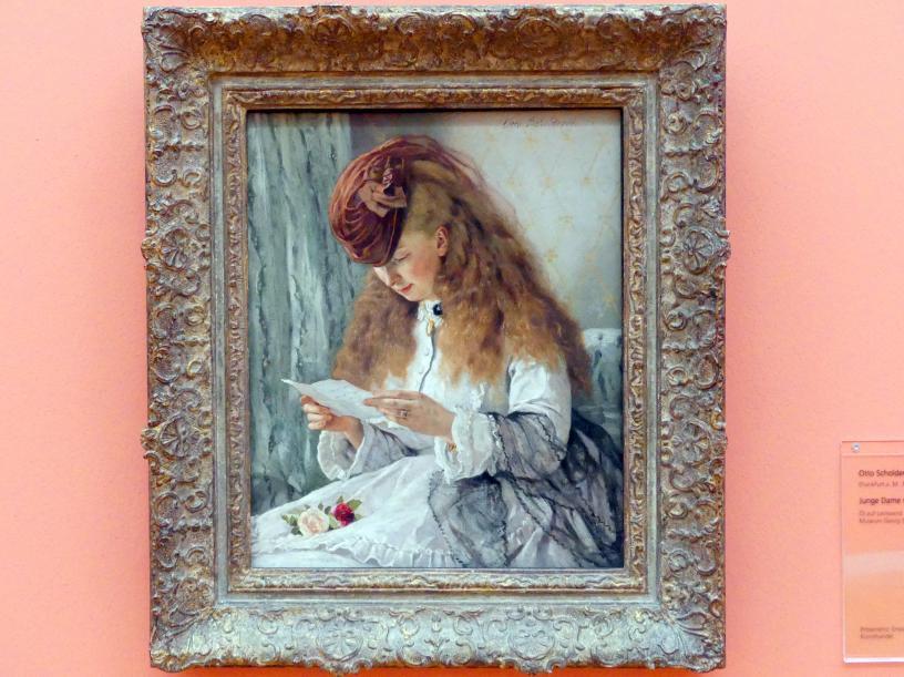 Otto Scholderer: Junge Dame mit Brief, 1871