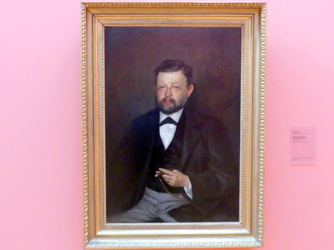 Wilhelm Leibl: Bildnis des Baumeisters Zimmermann, Um 1870 - 1874