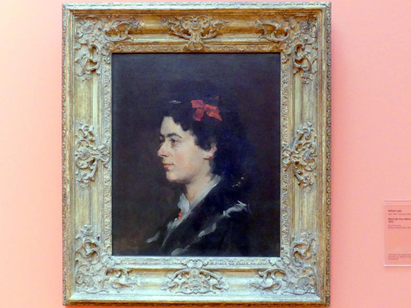 Wilhelm Leibl: Bildnis der Frau Helene Auspitz, 1870