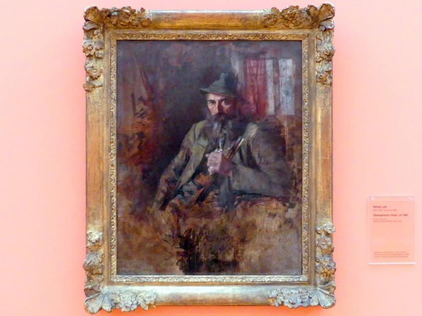 Wilhelm Leibl: Oberbayerischer Förster, Um 1890