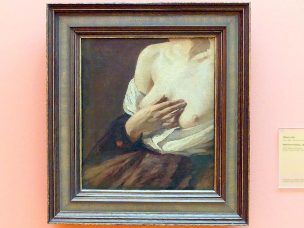 Wilhelm Leibl: Weiblicher Halbakt, 1864