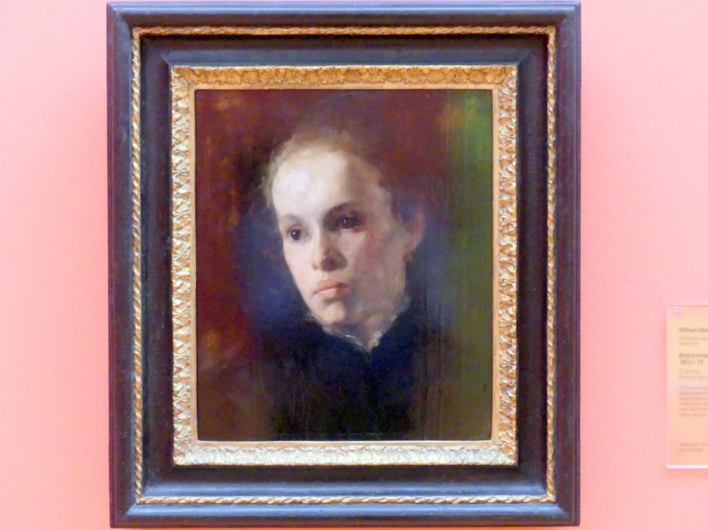 William Merritt Chase: Bildnis eines jungen Mädchens, um 1872 - 1873