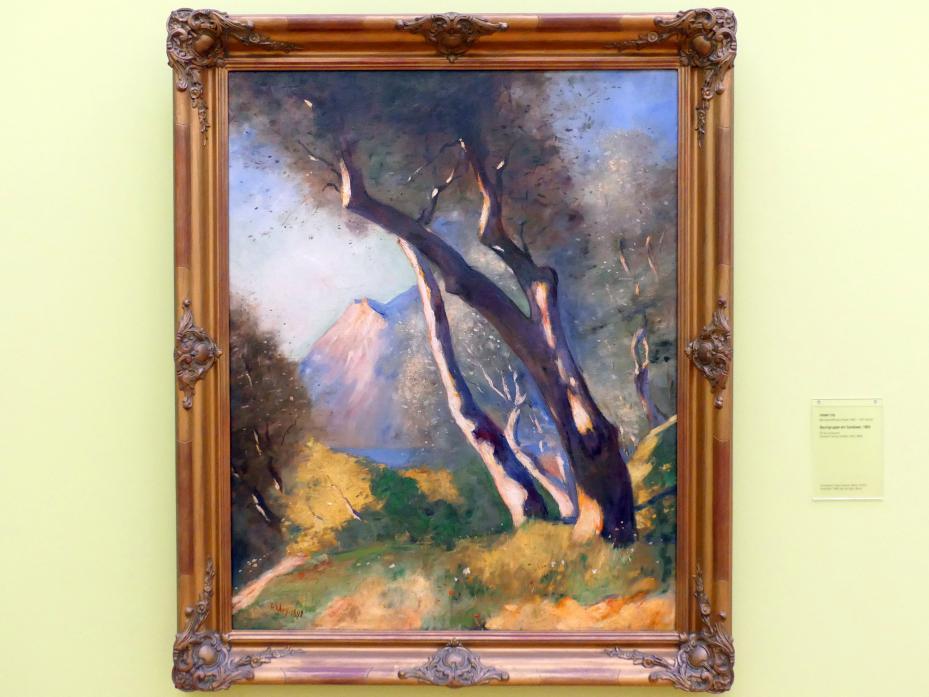 Lesser Ury: Baumgruppe am Gardasee, 1892