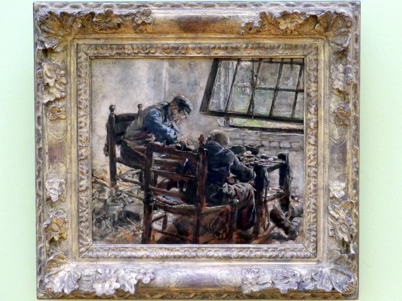 Max Liebermann: Schusterwerkstatt (Studie), 1880