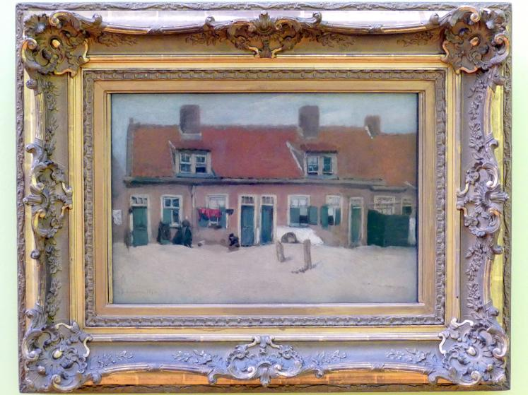 Max Liebermann: Alte Häuser in Scheveningen, 1872