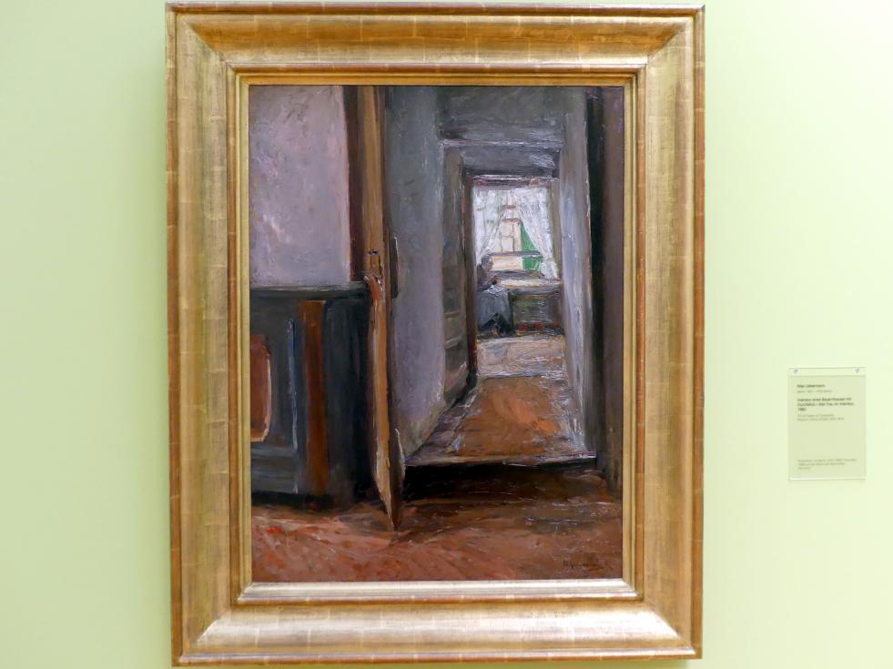Max Liebermann: Interieur eines Bauernhauses mit Durchblick / Alte Frau im Interieur, 1882