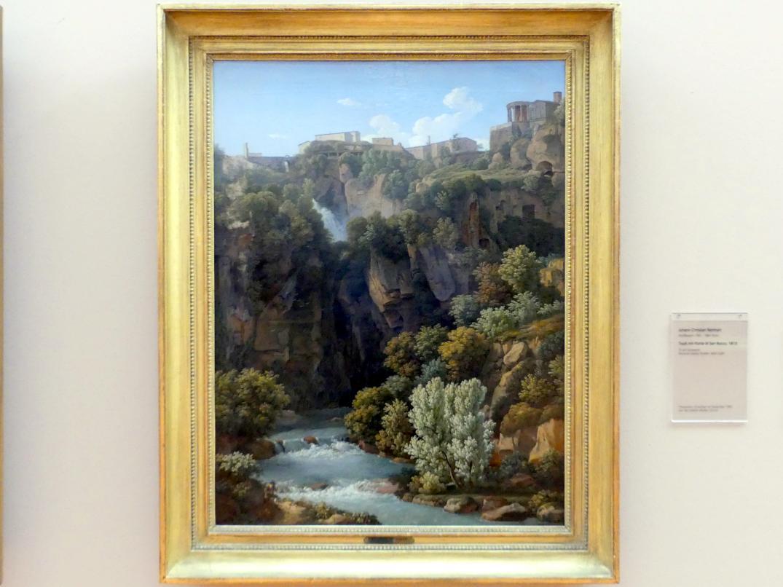 Johann Christian Reinhart: Blick auf Tivoli mit den Cascatellen, 1813