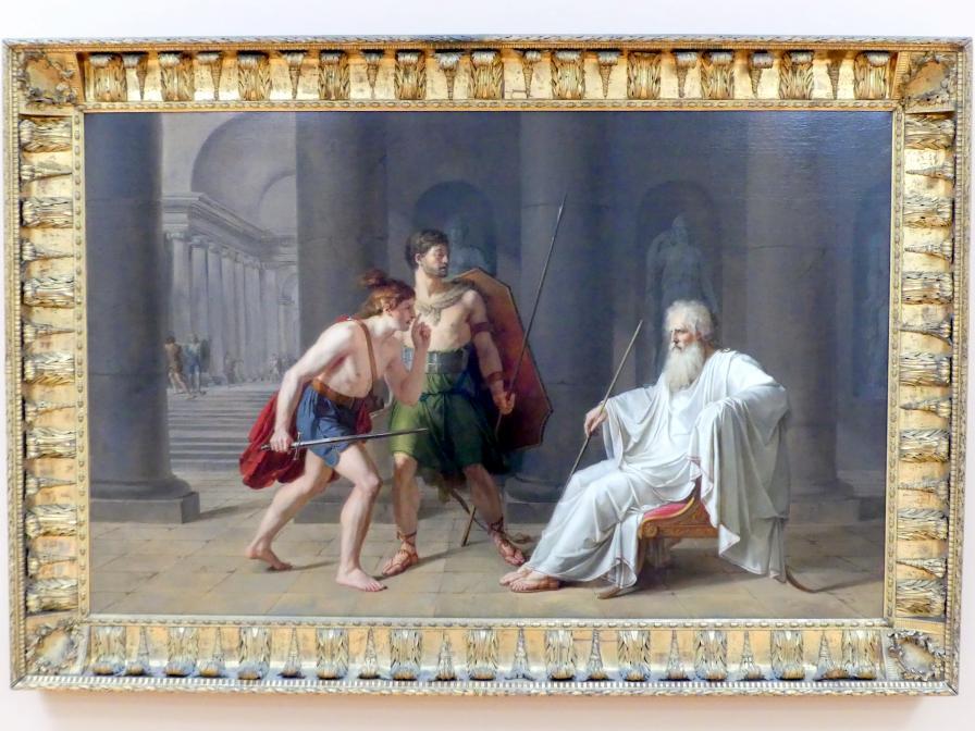 Philipp Friedrich Hetsch: Der Tod des Konsuls Papirius, Um 1777 - 1778