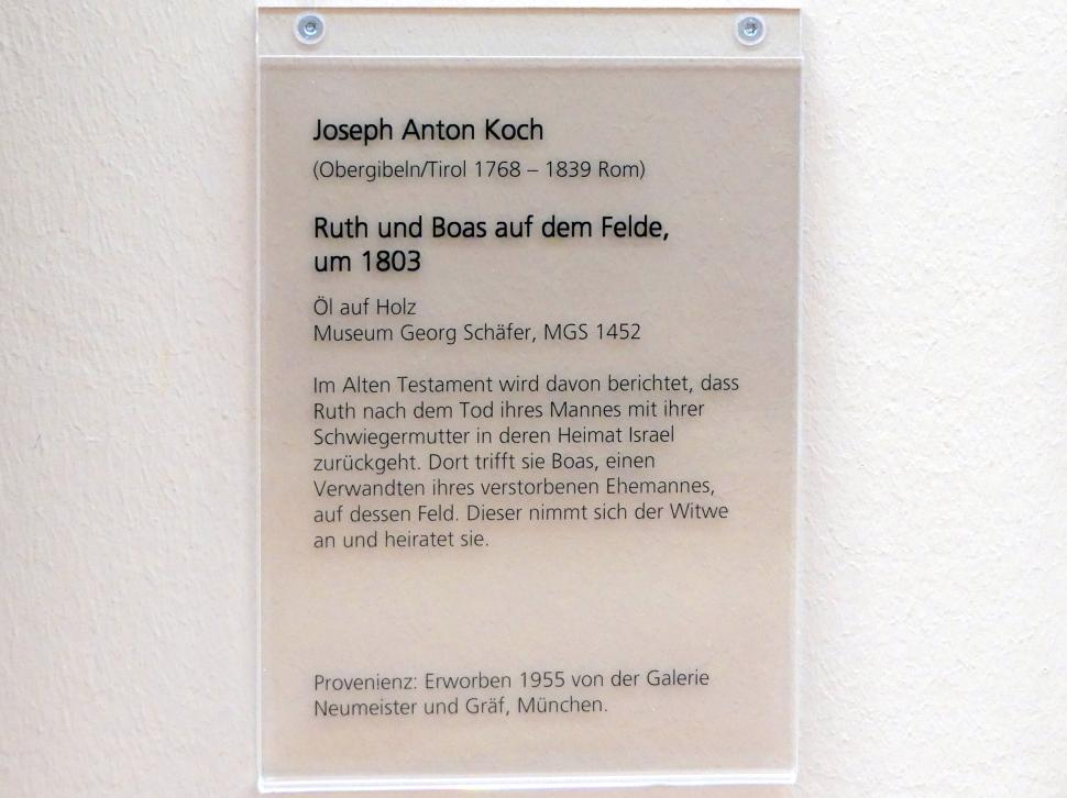 Joseph Anton Koch: Ruth und Boas auf dem Felde, um 1803, Bild 2/2