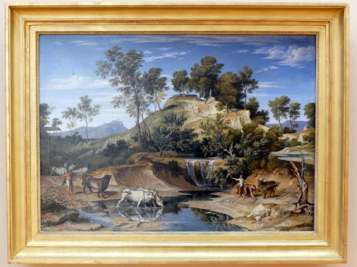 Joseph Anton Koch: Serpentara-Landschaft mit Hirten und Rindern, um 1834