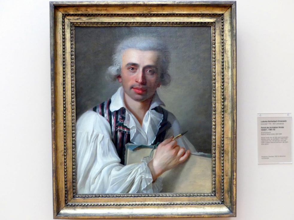 Ludovika Reichenbach Simanowitz: Portrait des Architekten Nicolas Vestier ?, um 1789 - 1792