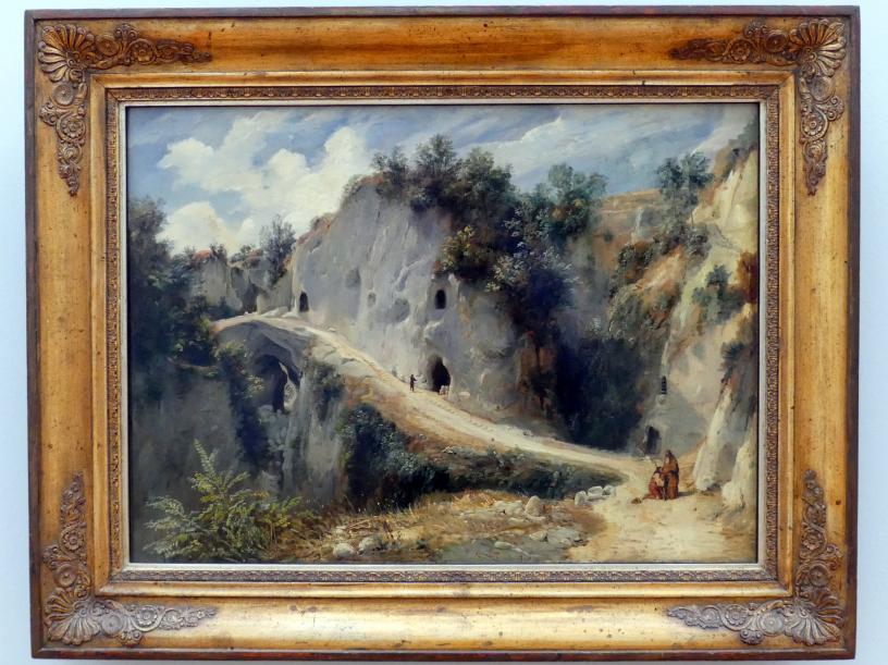 Carl Blechen: Südliche Felsenschlucht mit Höhlen, nach 1830