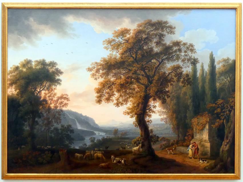 Jakob Philipp Hackert: Flusslandschaft mit Wasserfall, 1783