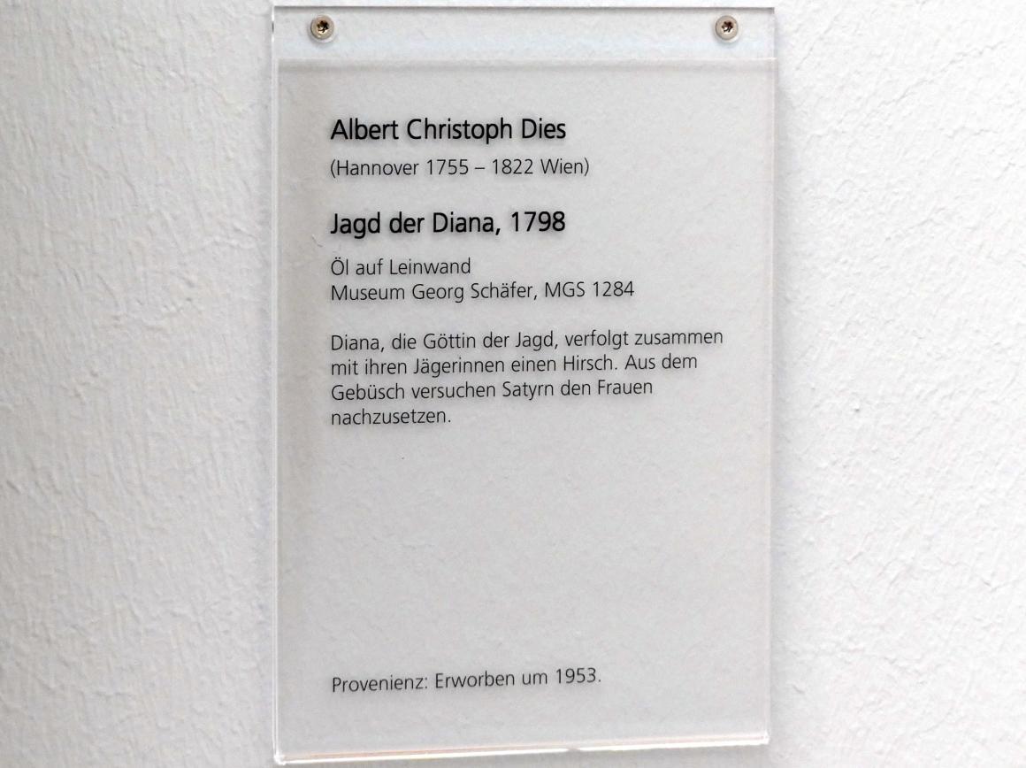 Albert Christoph Dies: Jagd der Diana, 1798, Bild 2/2