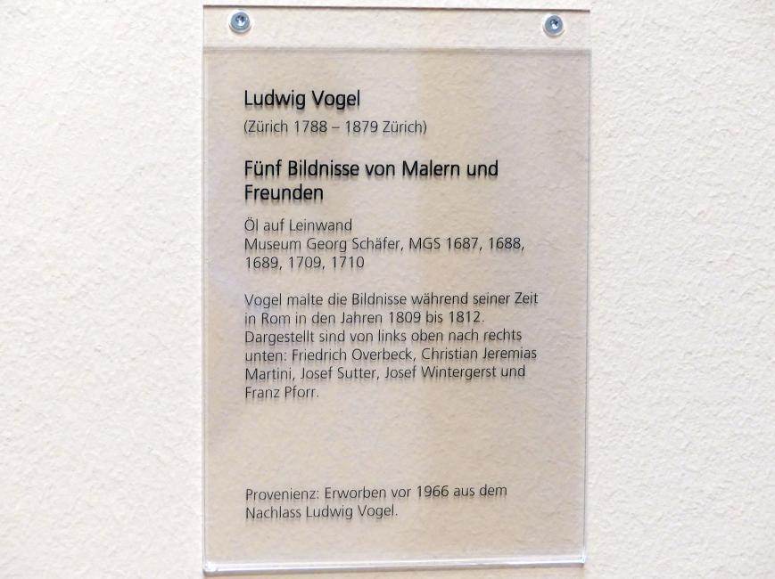 Ludwig Vogel: Bildnis Josef Wintergerst, 1809 - 1812, Bild 3/3