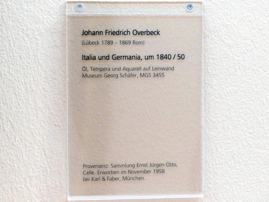 Friedrich Overbeck: Italia und Germania, Um 1840 - 1850