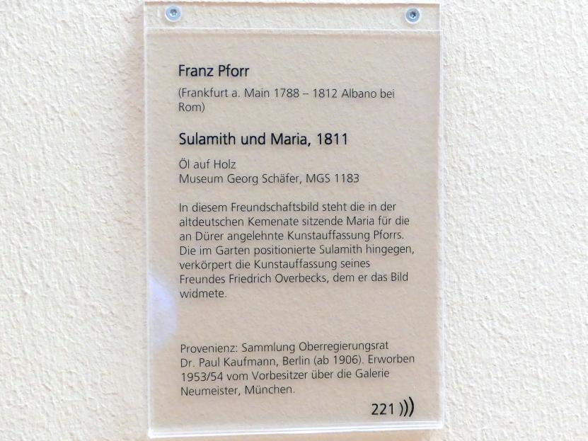 Franz Pforr: Sulamith und Maria, 1811, Bild 2/2