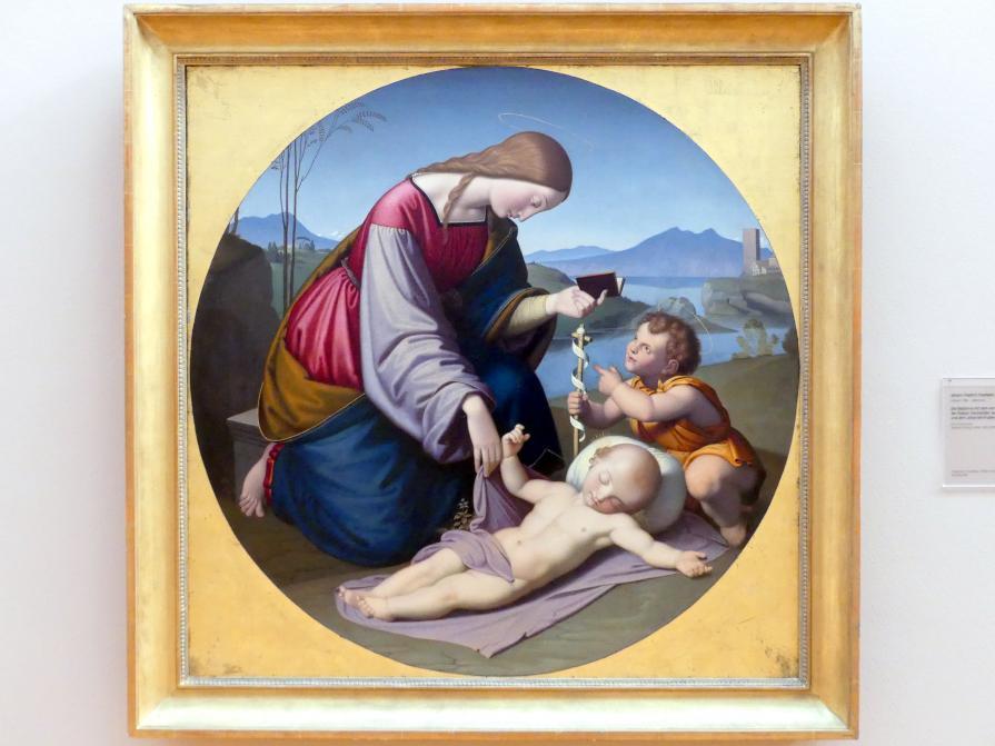 Friedrich Overbeck: Die Madonna mit dem von der Passion träumenden Jesuskind und dem Johannes-Knaben, 1856