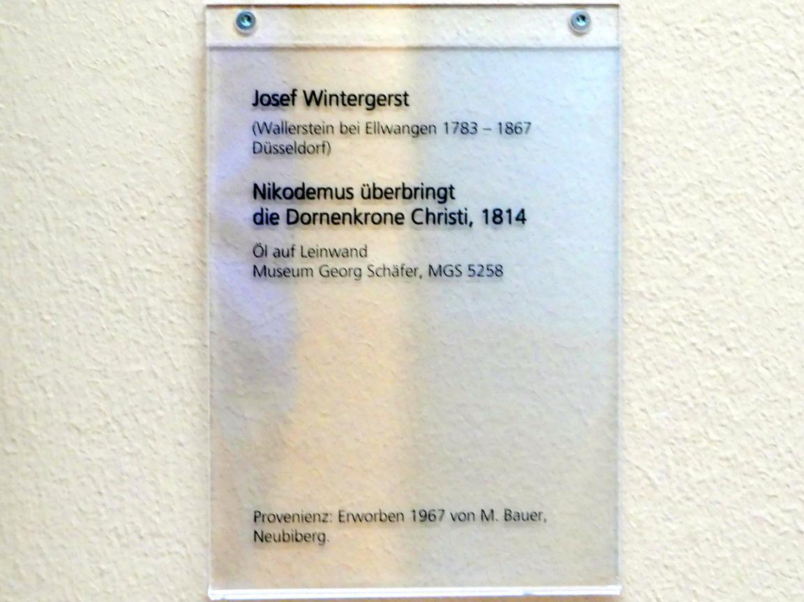 Josef Wintergerst: Nikodemus überbringt die Dornenkrone Christi, 1814