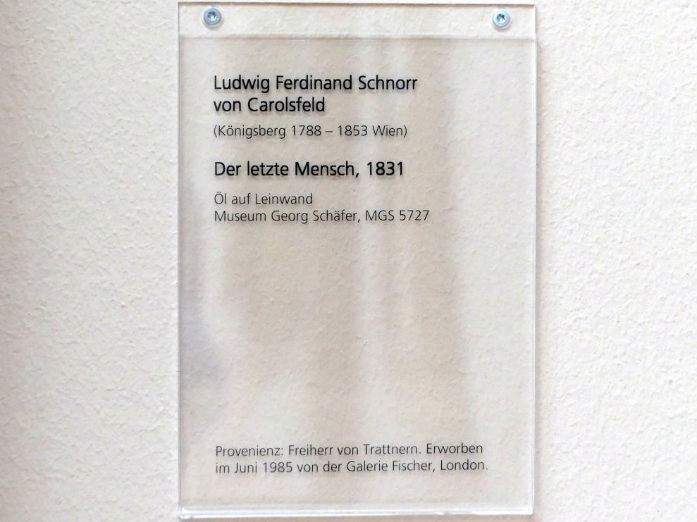 Ludwig Ferdinand Schnorr von Carolsfeld: Der letzte Mensch, 1831