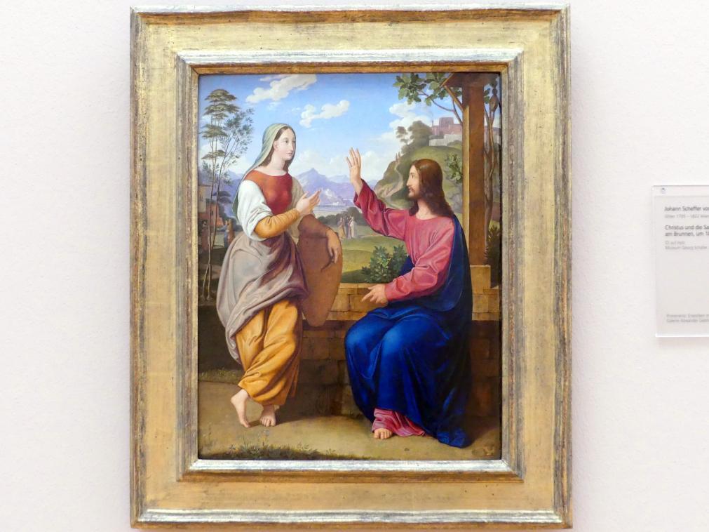Johann Scheffer von Leonhardshoff: Christus und die Samariterin am Brunnen, um 1816