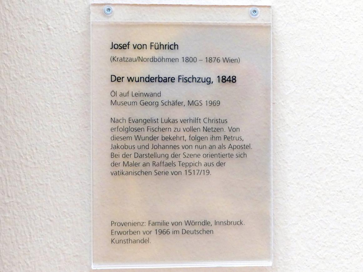 Joseph von Führich: Der wunderbare Fischzug, 1848