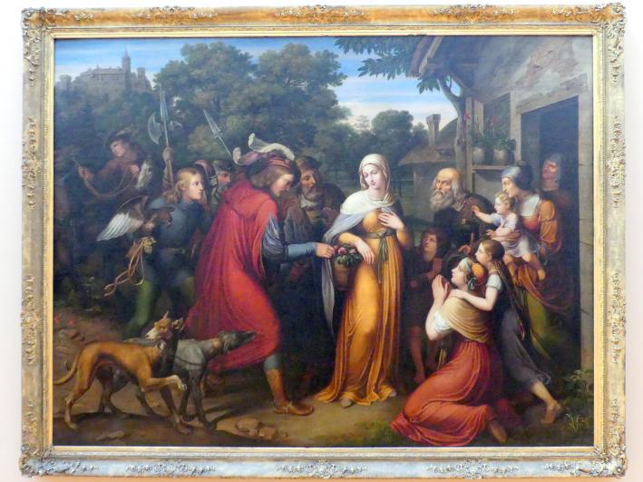 Franz Riepenhausen: Das Rosenwunder der heiligen Elisabeth, 1822