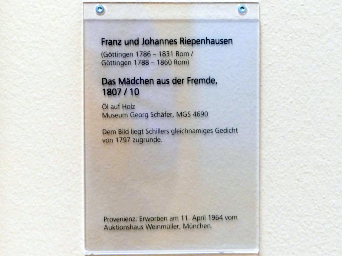Franz Riepenhausen: Das Mädchen aus der Fremde, um 1807 - 1810, Bild 2/2