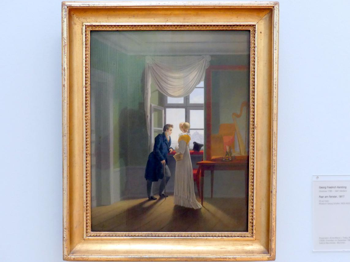 Georg Friedrich Kersting: Paar am Fenster, 1817
