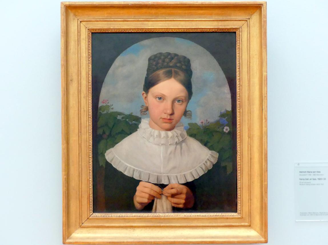 Heinrich Maria von Hess: Fanny Gail, en face, Um 1820 - 1822