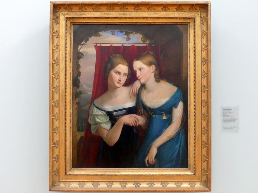 Carl Joseph Begas: Die Schwestern Hufeland, Um 1820 - 1821